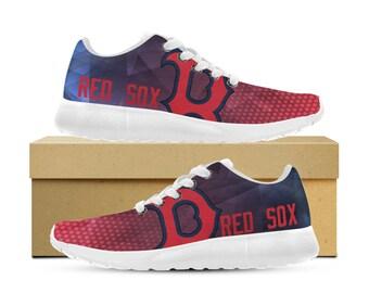 Boston Red Sox Custom Printed Sneakers Womens Mens and Kids