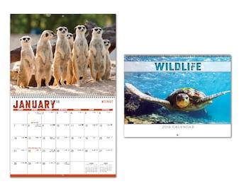 2018 Wildlife Spiral Wall Calendars