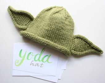 Yoda hat etsy hand knitted baby yoda hat yoda ears baby hatbaby gift dt1010fo