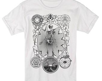 Men's ALCHEMIST Tee Dotwork Sacred Geometry Mystic Psychedelic Shirt