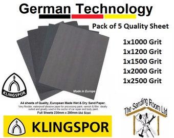 Klingspor Wet and Dry Sandpaper