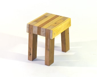 Reclaimed Wood Mini Stool/Bench