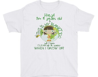 Kid's Earth Day School Tshirt For Boys And Girls Youth Short Sleeve T-Shirt