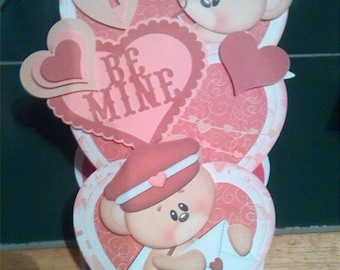 Be mine Valentine. Valentines day card