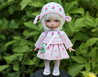 Sheep outfit for 1/8, 1/6 BJD dolls pukifee, lati yellow, Irrealdoll