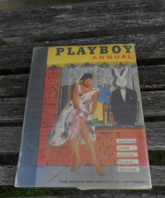 Vintage PLAYBOY Book, 1956. EXPLICIT WARNING!!! Vintage Home Decor. Cabin Decor.