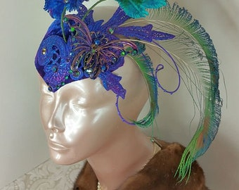 Blue Fascinator Hat//Fascinator Blue//Fascinator//Mini Hat//Fascinator Hat//Wedding Fascinator//Derby Fascinator//Tea Party Fascinator//Hat