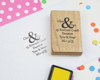 Ampersand Address Stamp - Favor stamp - Custom rubber stamp - wedding stamp - return address stamp - wedding rubber stamp