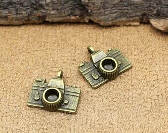 25pcs Antique Bronze Camera Charms Pendant 16x14mm C1123-T