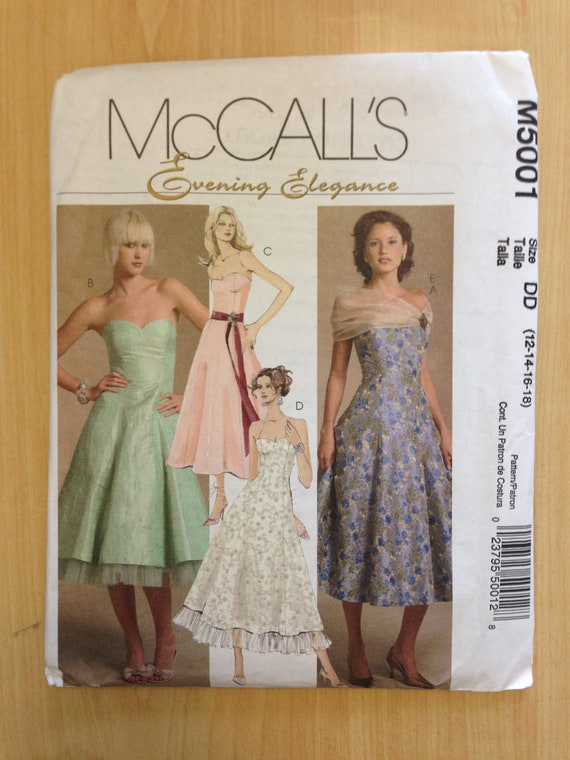 McCalls Sewing Pattern 5001 Misses/Miss Petite Lined Dresses and Wrap Size 12 - 18 Uncut Sale