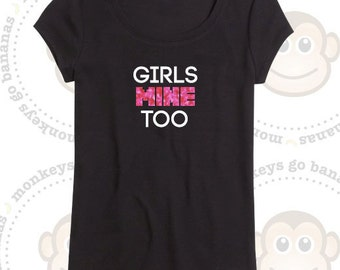 Girls MINE Too - Gamer T-shirt - Pixel font - Gaming, Glitter, Non glitter, Back to school, Birthday Party, Game themed Party