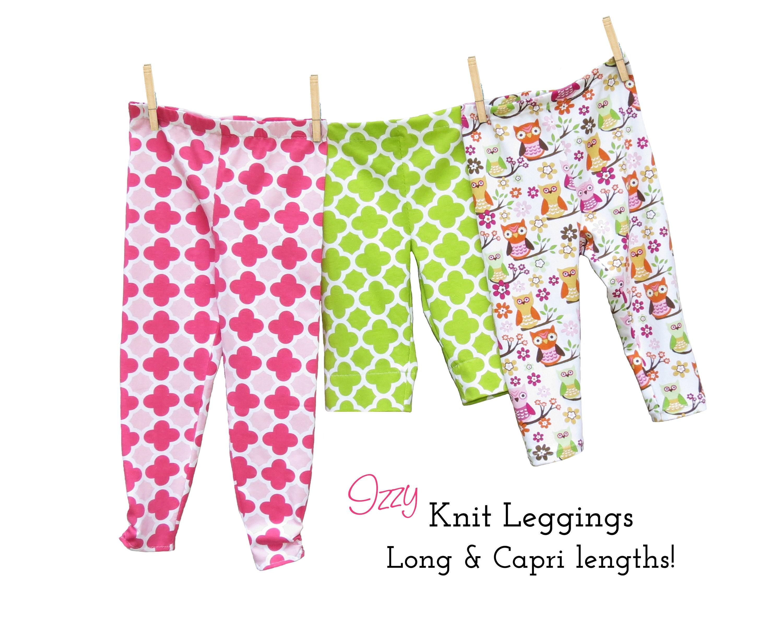 Leggings Sewing Pattern, KNIT fabrics. Toddler Baby Leggings Pattern ...