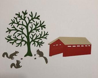 Handmade, Tree, Covered Bridge, Very Cute, Sizzix, Brown, Light Brown, Green, Cards, Scrapbooking, Die Cuts