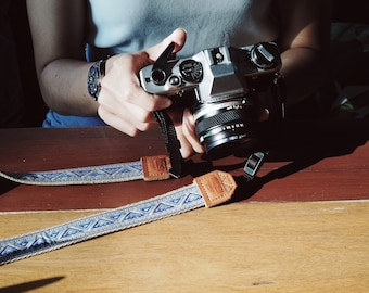 Quechua with Beige - Camera strap