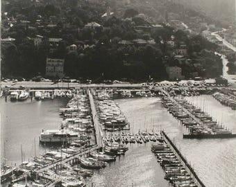 Minneapolis MN boat marina vintage aerial photo