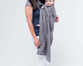 Manchester Ring Sling, Baby Sling Newborn, Baby Wrap, Toddler Carrier-Instructions Included, Linen Ring Sling