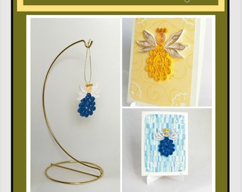 DIY Pattern: Angel Watching Over Me; Paper Filigree (quilling)