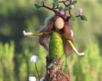 Needle felted tree guardian waldorf inspired