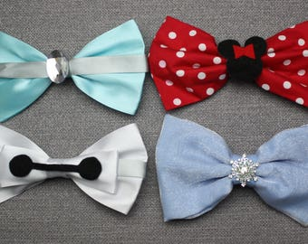 Disney Hair Bows - Cinderella, Elsa, Baymax, Minnie Mouse