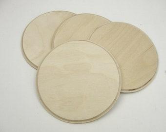 Wood round coaster blank