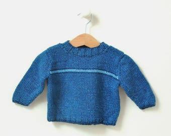 KNITTING PATTERNS Boys sweater newborn to 3 years Flash Stripe