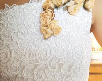 Tulle Wedding dress vintage, vintage wedding dress, french lace wedding dress, wedding gown, 1990's wedding dress, robe de mariée en tulle