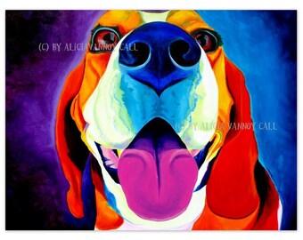 Beagle, Beagle Art, Colorful Beagle, Pet Portrait, DawgArt, Dog Art, Pet Portrait Artist, Beagle Painting, Colorful Dog Art, Art Prints,