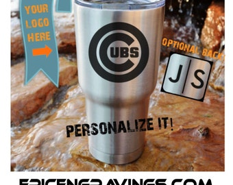 YETI or RTIC Engraved Tumbler/Chicago Cubs/Chicago Cubs Yeti/Chicago Cubs RTIC/Chicago Cubs Cup/Cubs Tumbler/Cubs Mug/Personalized Tumbler