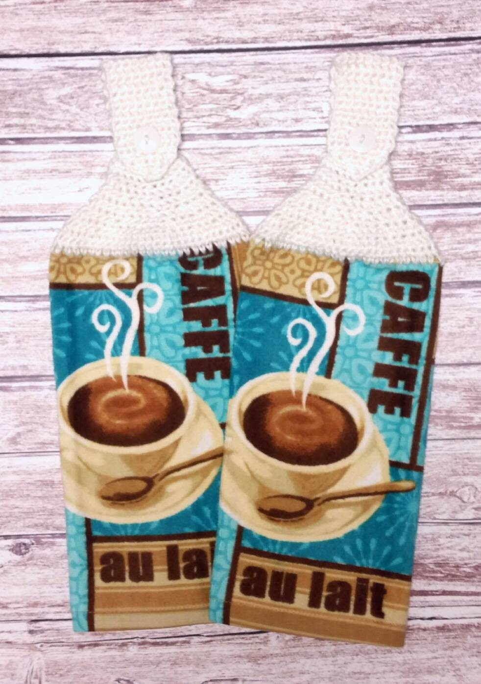 Crochet Towel Toppers Hanging Dish Kitchen Towels Coffee Cup