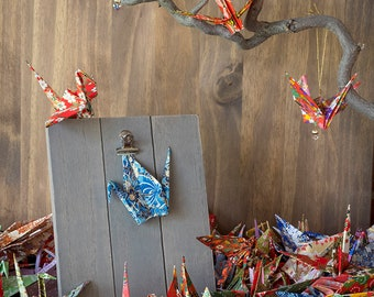 100 Large Origami Cranes Origami Paper Cranes - Made of 15cm 6 inches Authentic Japanese Chiyogami Yuzen Paper