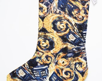 Doctor Who Inspired Christmas Stocking  Black Friday Free Shipping
