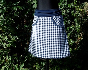 Skirt checkes VRONI Vichy rock Blue White Lady rock blue white