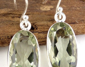 PRASIOLITE green AMETHYST earrings, prasiolite, minerals, JEW27.8 jewellery jewelry