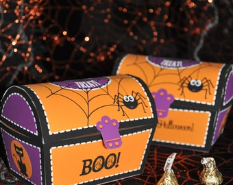 Halloween haunted house and sweet shoppe favor box combo pdf halloween diy decor pdf printable trick or treat treasure chest treat box favor maxwellsz