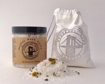 Relaxation Bath Salts, dead sea bath salts, relax soak, bath soak, herbal bath soak, bath tea, lavender ylang ylang chamomile frankincense