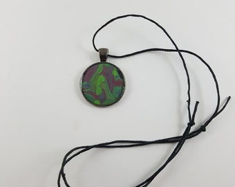 Green and Purple Flow Necklace