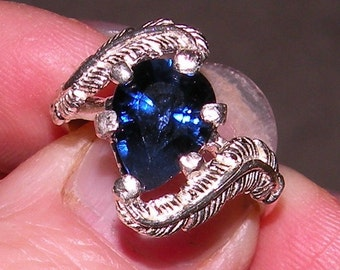 Blue Pear Shaped Sapphire Ring