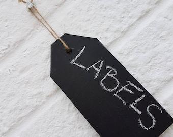 Wooden Chalkboard Labels/Tags