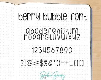Berry Bubble Font