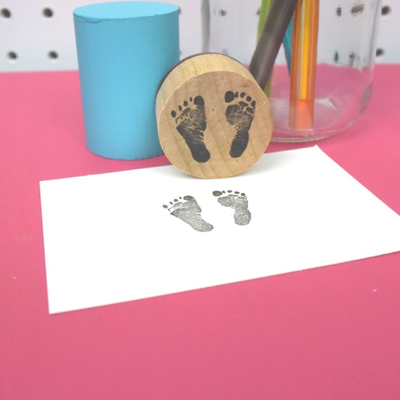 Baby Footprint Stamp   Realistic   Rubber Stamp   Baby Stamp   Baby Shower  Stamp From SeriousStamp On Etsy Studio