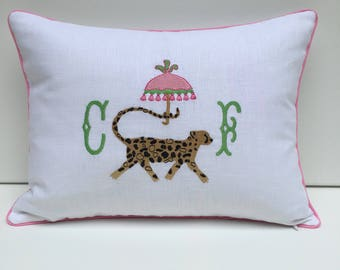 Chinoiserie Cheetah Pillow Cover