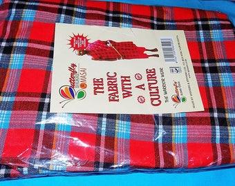 Beautifully Crafted Original Kenyan Maasai/Masai Multi-colored Shuka blanket- Masai/African Maasai shuka (blanket) - Masai shuka picnic mat 48Wwz