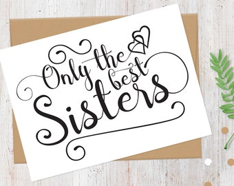 Pregnancy Announcement Card | New Aunt | Only the Best Sisters Get Promoted to Auntie Card | Having a Baby Card | 100% Recycled Card
