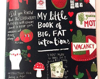 New** Blank Notebook: My Little Book of Big, Fat Intentions!