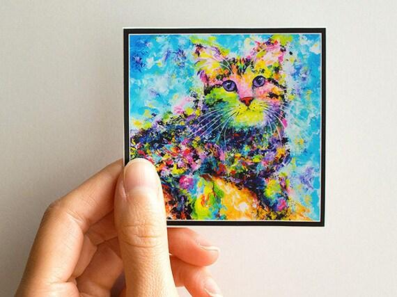Vinyl Psy Cat Sticker
