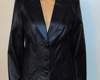 Vintage Black Leather Jacket/blazer from East 5th