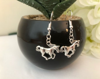Tibetan Horse Earrings