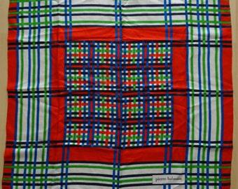 Scarf vintage BALMAIN 100% silk Made in France