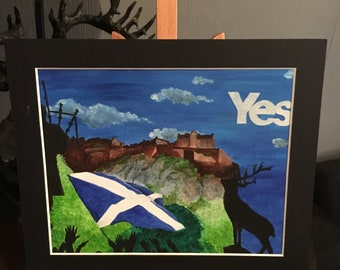 Original watercolour painting 'Scottish independence'
