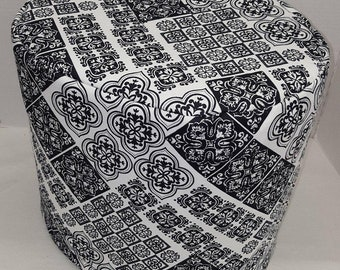 Black & White Mosaic Damask Instant Pot Pressure Cooker Cover
